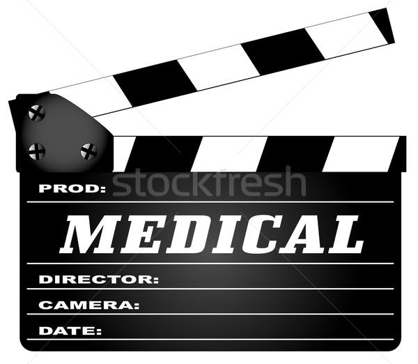 Orvosi tipikus film legenda izolált fehér Stock fotó © Bigalbaloo