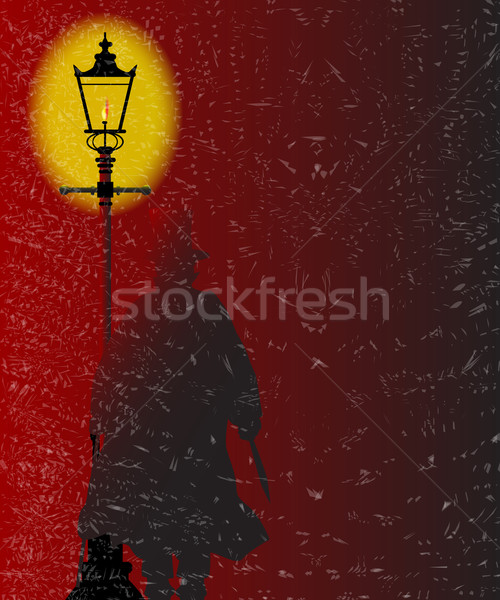 Jack the Ripper in Gaslight Stock photo © Bigalbaloo