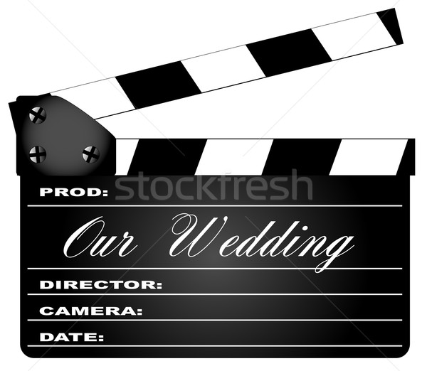 Our Wedding Clapperboard Stock photo © Bigalbaloo