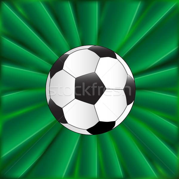 Piłka zielone typowy piłka nożna materiału piłka nożna Zdjęcia stock © Bigalbaloo