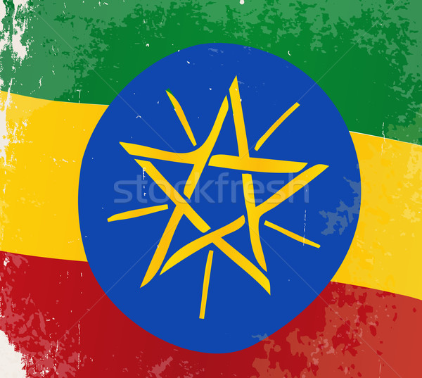 Ethiopia Flag Grunge Stock photo © Bigalbaloo