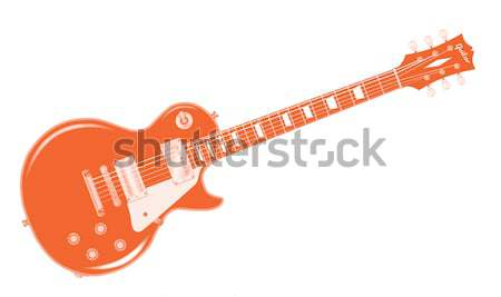 Red Electric Guitar Stock photo © Bigalbaloo