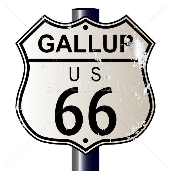 Gallup Route 66 Sign Stock photo © Bigalbaloo