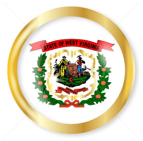 West Virginia  Flag Button Stock photo © Bigalbaloo