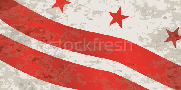Washington DC bandeira vermelho branco grunge arte Foto stock © Bigalbaloo