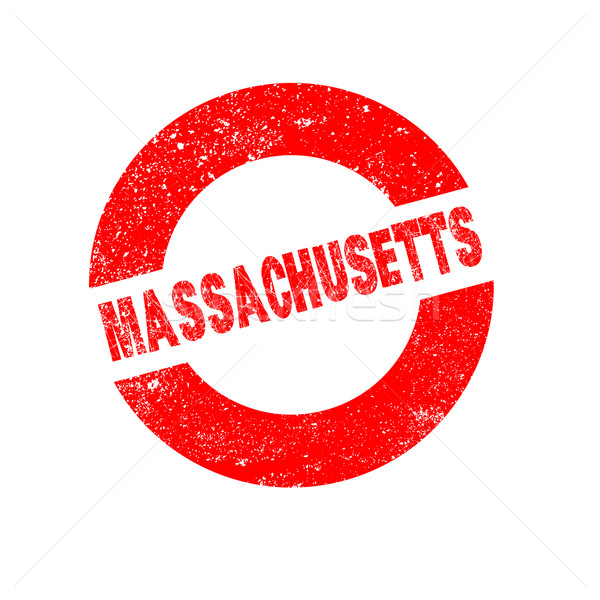 Stock photo: Rubber Ink Stamp Massachusetts