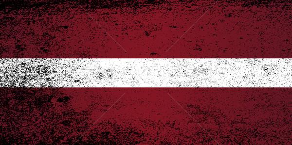 Vlag Letland grunge effect Stockfoto © Bigalbaloo