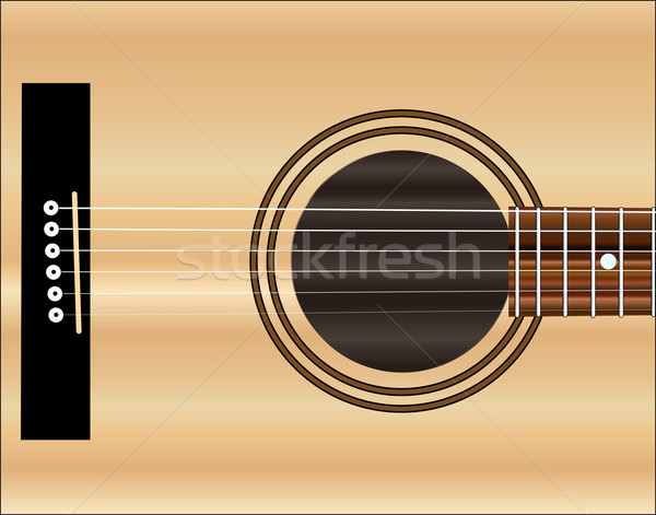 Acoustic Guitar Soundboard Stock photo © Bigalbaloo
