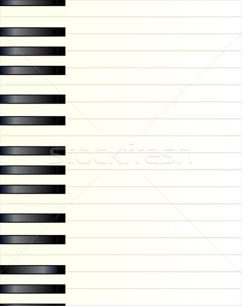Piano Key Background Stock photo © Bigalbaloo