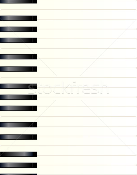 Piano sleutel zwart wit pianotoetsen pagina achtergrond Stockfoto © Bigalbaloo