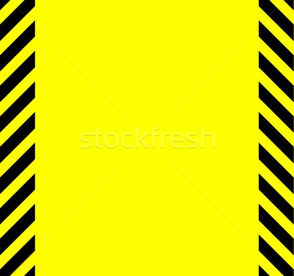 Yellow And Black Warning Background Stock photo © Bigalbaloo