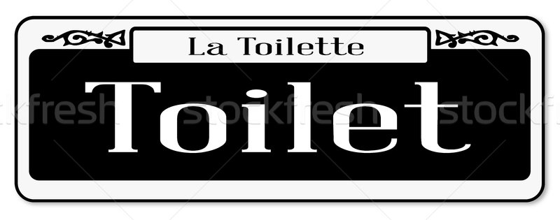 New Orleans Toilet Sign Stock photo © Bigalbaloo