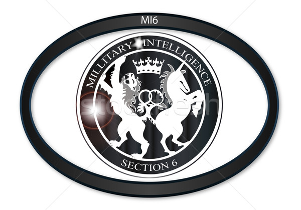 MI6 Oval Badge Stock photo © Bigalbaloo