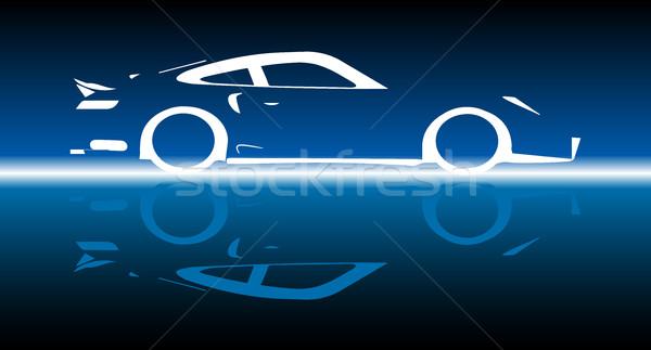 Fast Car Reflection Stock photo © Bigalbaloo