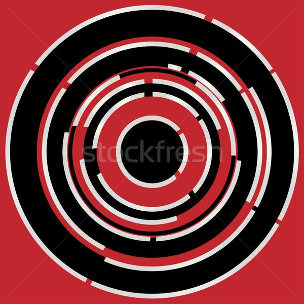 Rouge noir circulaire résumé style image Photo stock © Bigalbaloo