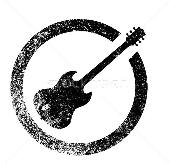 Guitar Ink Stamp Stock photo © Bigalbaloo