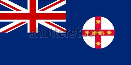 New south wales vlag land kunst Stockfoto © Bigalbaloo