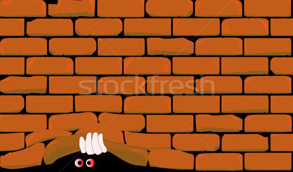 Lifting The Wall Stock photo © Bigalbaloo