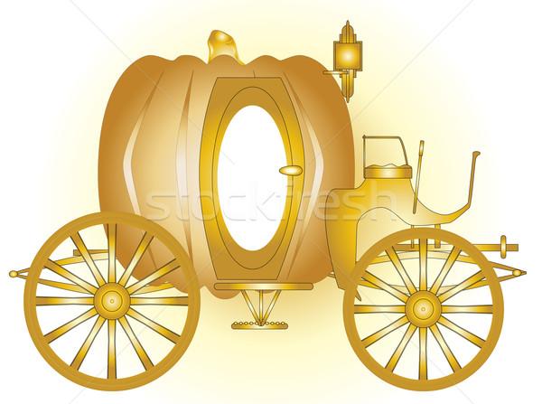 魔法 キャリッジ おとぎ話 金 結婚式 馬 ストックフォト © Bigalbaloo