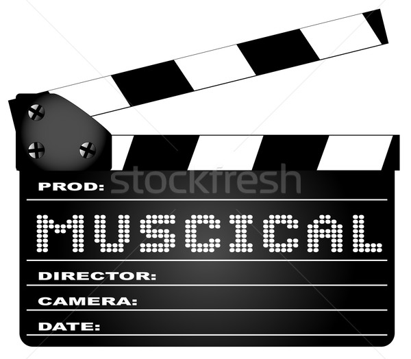 Musical Movie Clapperboard Stock photo © Bigalbaloo