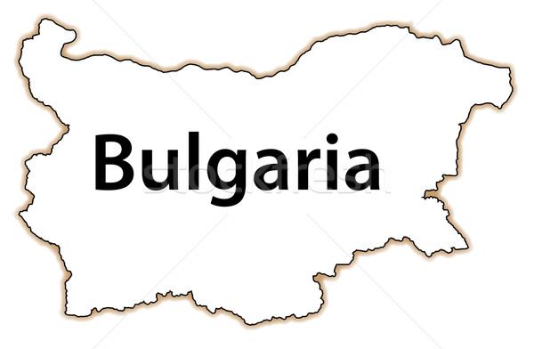 Болгария карта стране изолированный белый Сток-фото © Bigalbaloo