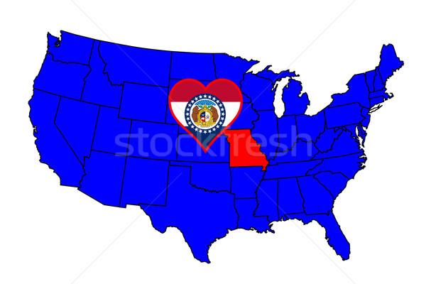 State of Missouri Stock photo © Bigalbaloo