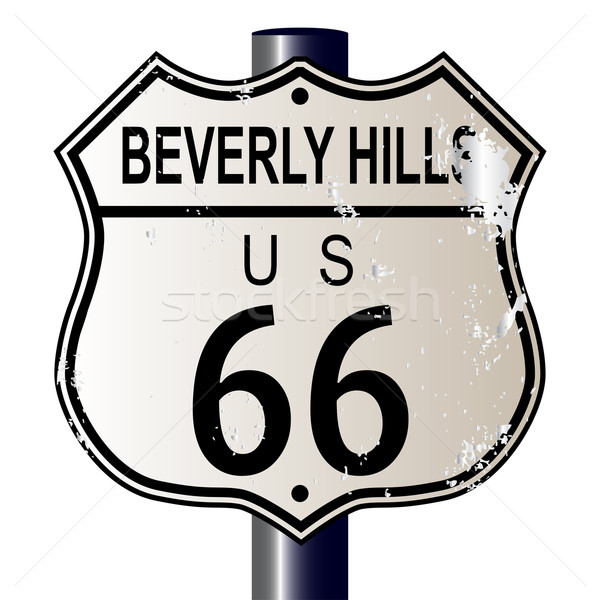 Beverly Hills Route 66 Sign Stock photo © Bigalbaloo