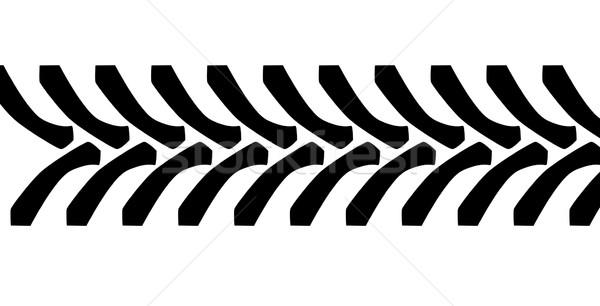 Tractor Tyre Tread Marks Stock photo © Bigalbaloo