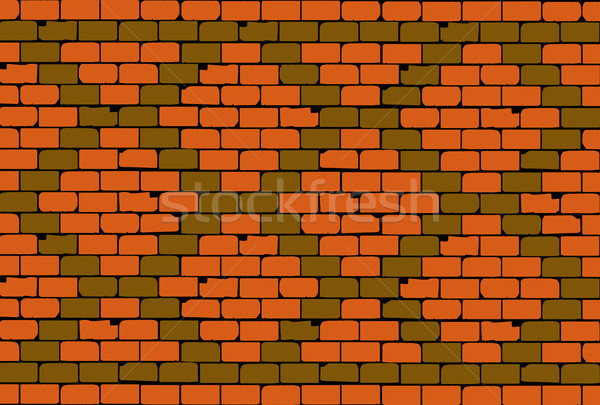 Old Brick Wall Rhombus Pattern Stock photo © Bigalbaloo