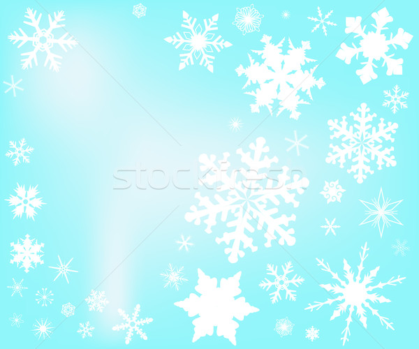 Snowfall Stock photo © Bigalbaloo