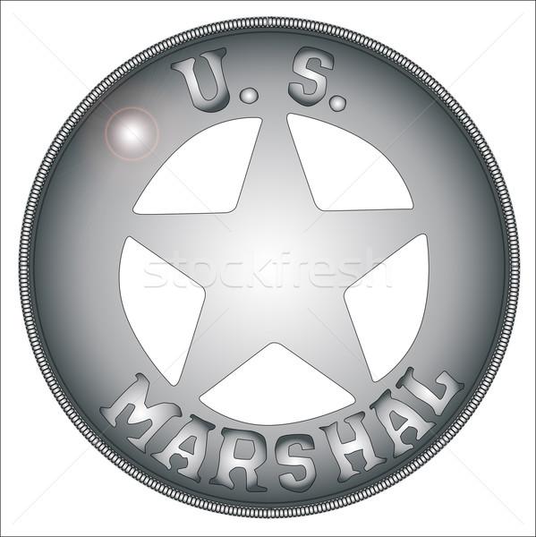 US Marshal Badge Stock photo © Bigalbaloo
