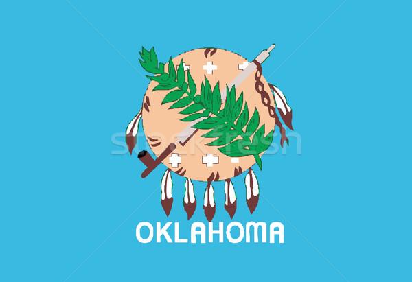 Oklahoma bandeira desenho Estados Unidos Foto stock © Bigalbaloo