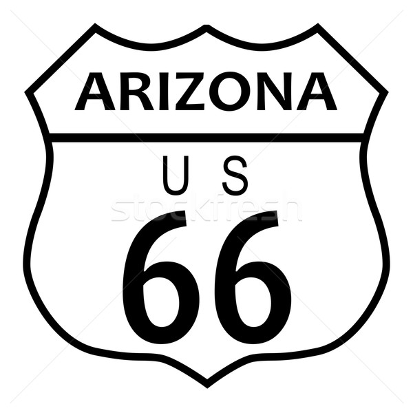 Route 66 Arizona Stock photo © Bigalbaloo