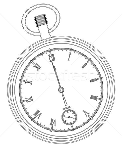 полночь белый лице часы Сток-фото © Bigalbaloo