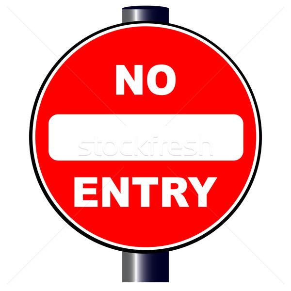 No Entry Sign Stock photo © Bigalbaloo
