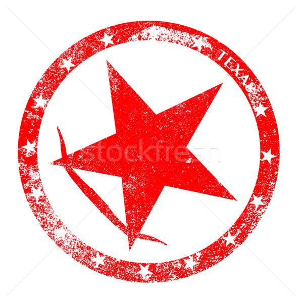 Texas czerwony atramentu biały pieczęć Zdjęcia stock © Bigalbaloo
