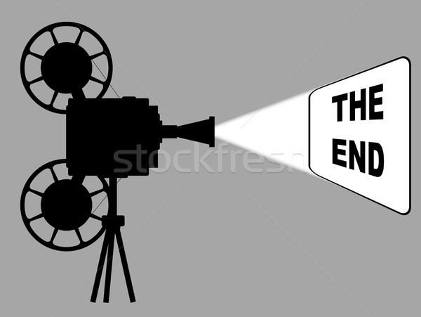Movie Cine Projector The End Stock photo © Bigalbaloo
