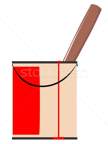 Tin rosso vernice eseguire giù Foto d'archivio © Bigalbaloo
