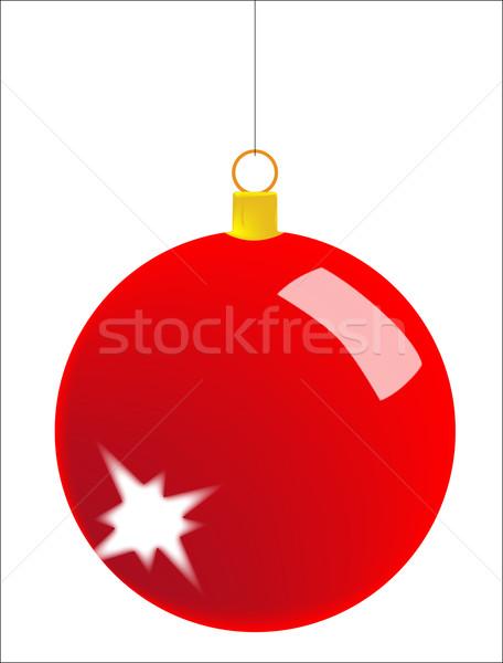 Christmas cacko odizolowany biały szkła czerwony Zdjęcia stock © Bigalbaloo