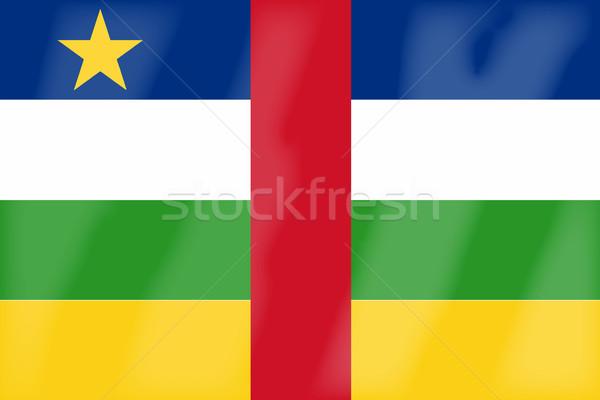 центральный африканских республика флаг стране Сток-фото © Bigalbaloo