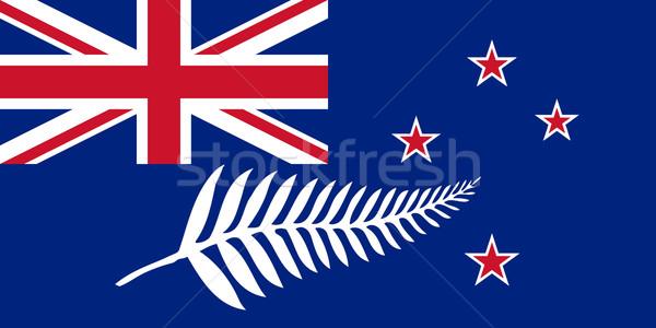 Nouvelle-Zélande pavillon argent fougère pays emblème Photo stock © Bigalbaloo
