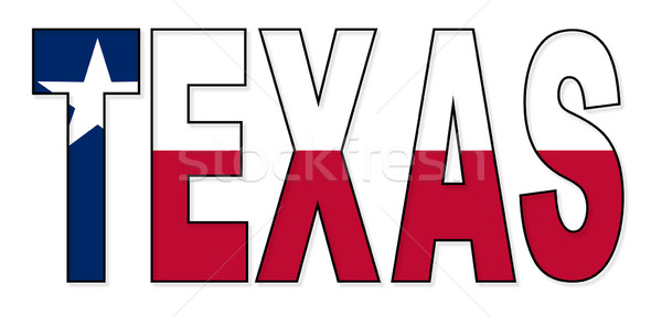 Texas tekst vlag USA star witte Stockfoto © Bigalbaloo
