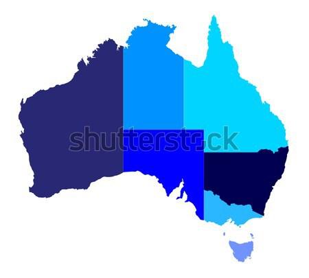 Australia State Silhouette Stock photo © Bigalbaloo