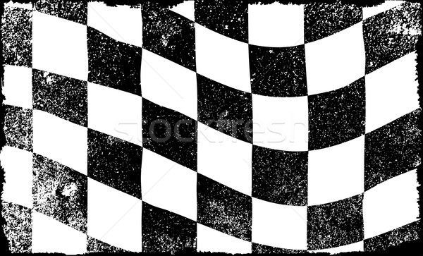Grunged Chequered Flag Stock photo © Bigalbaloo