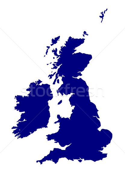 U.K. and Southern Ireland Silhouette Stock photo © Bigalbaloo