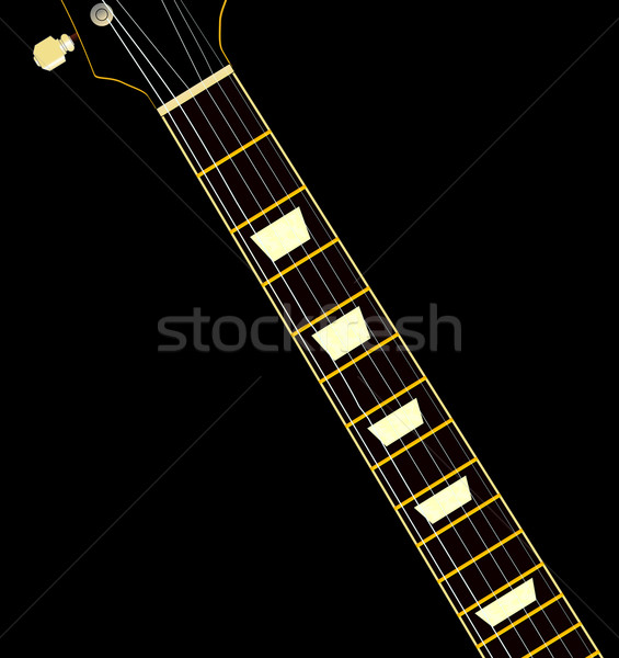 Guitarra elétrica pescoço guitarra mãe pérola música Foto stock © Bigalbaloo