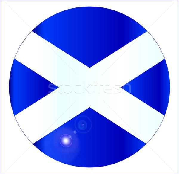 Scottish Flag Button Stock photo © Bigalbaloo