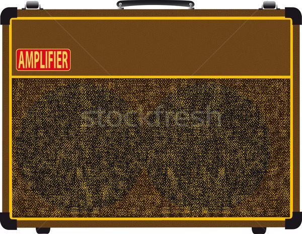 Rock Band Amplifier Stock photo © Bigalbaloo