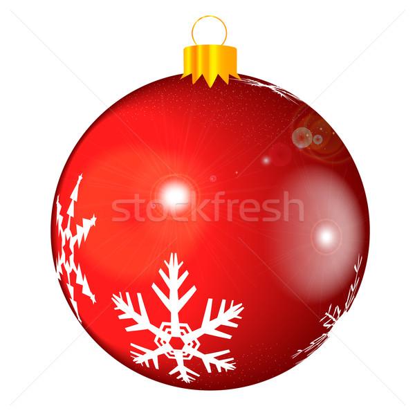 Dekorasyon parlak Noel kar tanesi desen cam Stok fotoğraf © Bigalbaloo