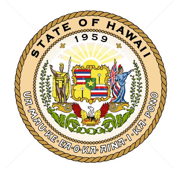 State Seal of Hawaii Stock photo © Bigalbaloo